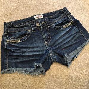 Mudd cutoff shorts